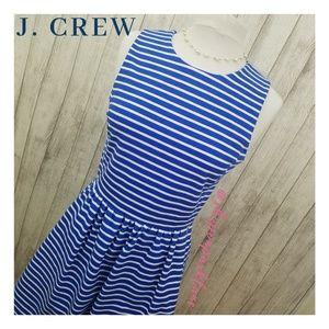 J. Crew Factory Striped Daybreak Ponte Dress, Blue